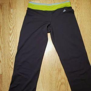 Adidas Women's Athletic Pants Medium Gray Green
